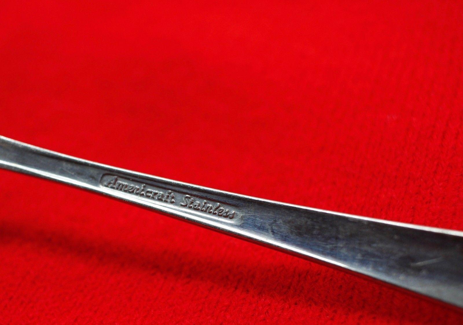 "2X Salad Dessert Forks Gorham Silver Lisa Stainless Glossy Flatware 6 5/8"" Fork"