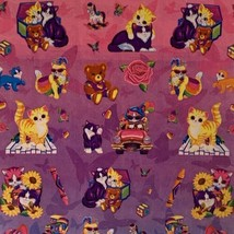 WOW Vintage Lisa Frank Sticker Sheet Love To Shop Kitty Sunflowers Teddy S390 image 2