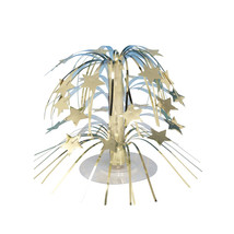 8.5 inch Mini Cascade Centerpiece Gold Stars/Case of 6 - €23,38 EUR