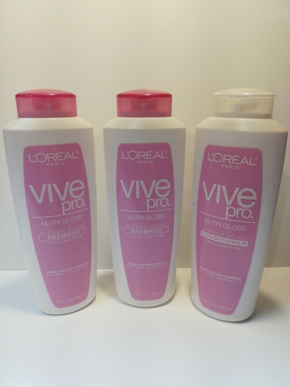 L'Oreal Paris Vive Pro Nutri Gloss Mirror Shine Shampoo & Conditioner Lot Of 3 - $69.20