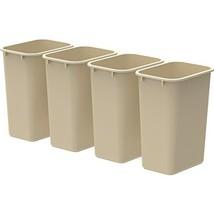 10-Gal Waste Basket Set of 4 Color: Beige - $42.51