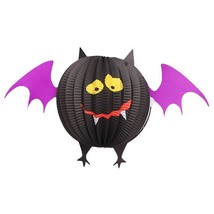 Foldable Paper Lanterns Hanging Party Props Halloween Decoration - $135,11 MXN+