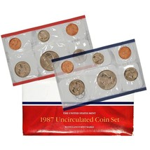 1987 P & D US Mint Set United States Original Government Packaging Box C... - $8.99