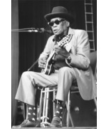 Johnny Lee Hooker blues legend playing guitar b/w portrait 18x24 Poster - $23.99