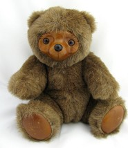 Vintage Wood Plush Teddy Bear Robert Raikes Sherwood Applause 1985 Woode... - $11.87