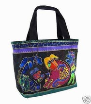 "NWT Laurel Burch Dogs and Doggies Small Tote Shopper Canine  12.5"" x 8.5... - $33.75"