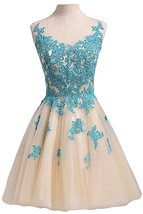 Tulle Scoop Ball Gown Homecoming Dress Short Prom Cocktail Party Gown Ap... - $118.00