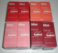 Bliss Tinted Bang Pow Tinted Shiny Lip Balm New Pack of 2 Choose Your Color - $16.99