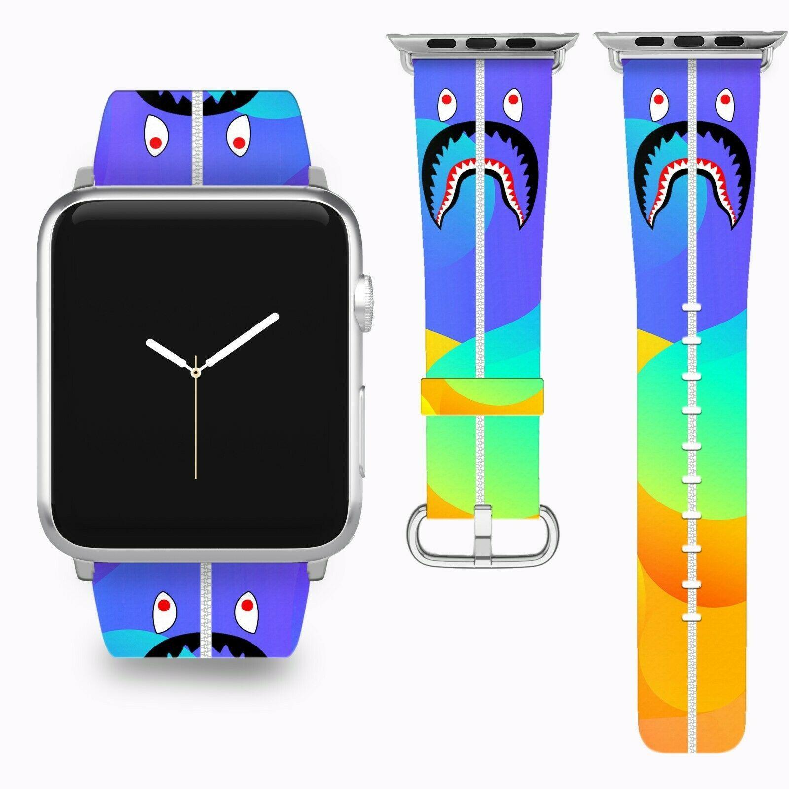 Bape Shark Apple Watch Band 38 40 42 44 mm Series 5 1 2 3 4 Wrist Strap 04 - $29.99 - $32.99