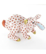 Herend Rabbit Running Rust Fishnet VH15452 Hungary Porcelain New - $223.10