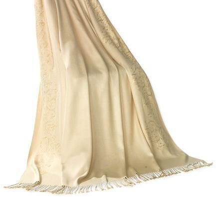 Coldwater Creek Empress Embroidered Throw/Blanket New