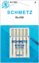 Schmetz ELX705 Serger Needles -Size 14/90 5/Pkg - $7.85