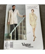 Vogue Sewing Pattern Anne Klein 1417 Misses Jacket Skirt And Pants Size ... - $13.29