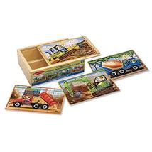 Melissa & Doug Wooden Jigsaw Puzzles in a Box - Construction - $11.99