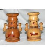 Vintage Chef  Wooden Salt Pepper Shakers Japan - $12.00