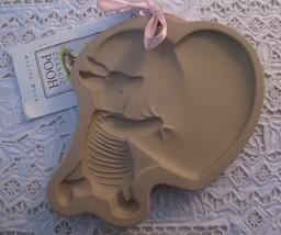 Vintage Brown Bag Cookie Art Big Hearted Piglet Ceramic Cookie Mold Pooh... - $14.01