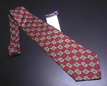 Tie roundtree   yorke red thatch background gold   brown decorations new with tags 01 thumb155 crop