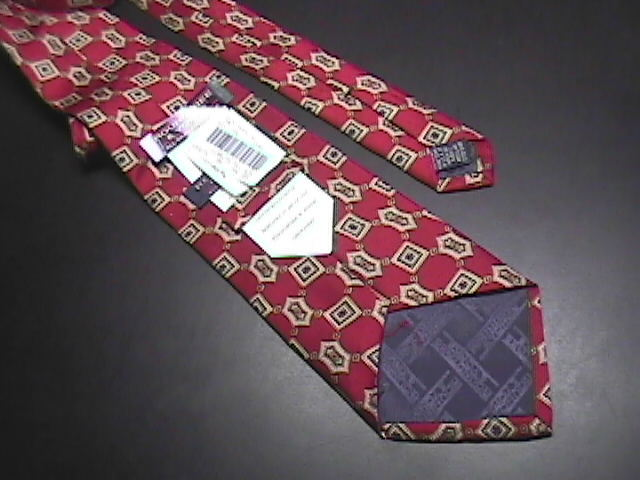 Roundtree & Yorke Silk Neck Tie Reds Browns Golds Unused with Manufacturer Tags