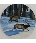 Changing Direction Elk Paul Krapf Portrait of the Wild 3 Plate Bradford ... - $29.70