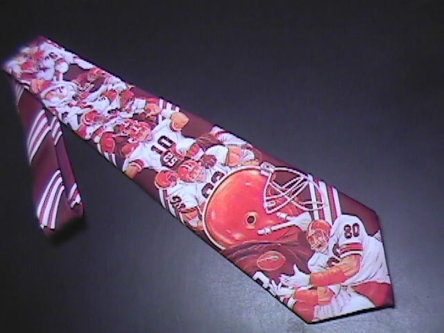 Ralph Marlin Neck Tie Cleveland Browns Footbal 1991 Polyester