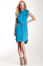 VINCE CAMUTO TEAL CAP-SLEEVE High-Low SHIRTDRESS ( Size 4 ) *NWT~$129.00 - $26.91
