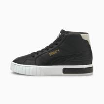Puma Womens California Star Mid Heel Leather Shoes Black - $186.32