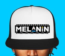 Melanin Trucker Mesh Hat Dad Hat Baseball Cap Carbon Black Lives Matter - $14.99