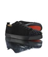 Christian Louboutin Black Suede Low Spike Louis Junior sneakers  - $450.00
