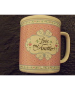 Enesco Pink Coffee Tea Mug 1988 David Gish Ceramic Love One Another - $6.95