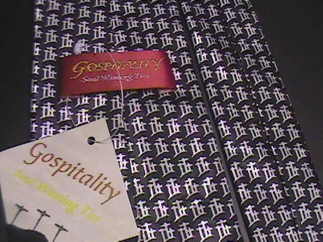 Gospitality Neck Tie Golgotha Crucifixition Site Unused and Unworn with Tags