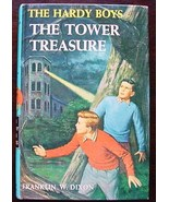 Hardy Boys THE TOWER TREASURE Brown Multi Endpapers - $6.00