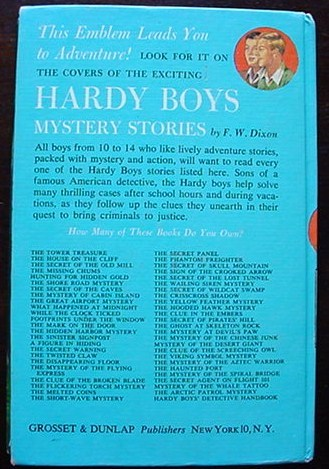 Hardy Boys THE TOWER TREASURE Brown Multi Endpapers