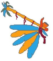 Peace Pipe Color Graph Afghan Pattern - $5.00