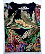 Retro 80s Floral 100 Percent Cotton Short Sleeve Shirt - $3.50