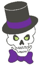 Dapper Skull Color Graph Pattern - $5.00