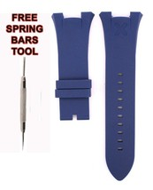Fit For Armani Exchange AX1041 Rubber Watch Band Strap 32mm Blue Diver A... - $19.83