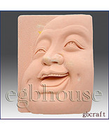2D Silicone Soap Mold – Laughing Buddha Close-up - $26.00