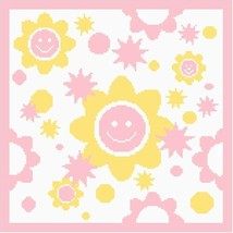 Smiley Flowers Color GraphAfghan  Pattern - $5.00