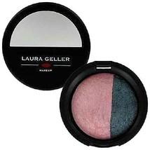 Laura Geller Baked Sateen Eyeshadow Rimz Duo - Fresco Pink / Mystic Sea New - $7.99