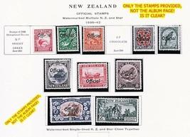 NEW ZEALAND 1936/42 OFFICIALS SC#O62/O71 MNH high VALUES pencil /MLH CV - $115.00