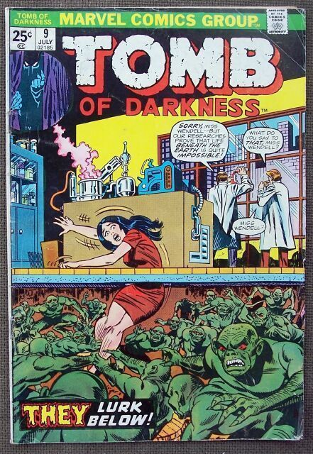 Comic Marvel Tomb of Darkness No 9 July 1974
