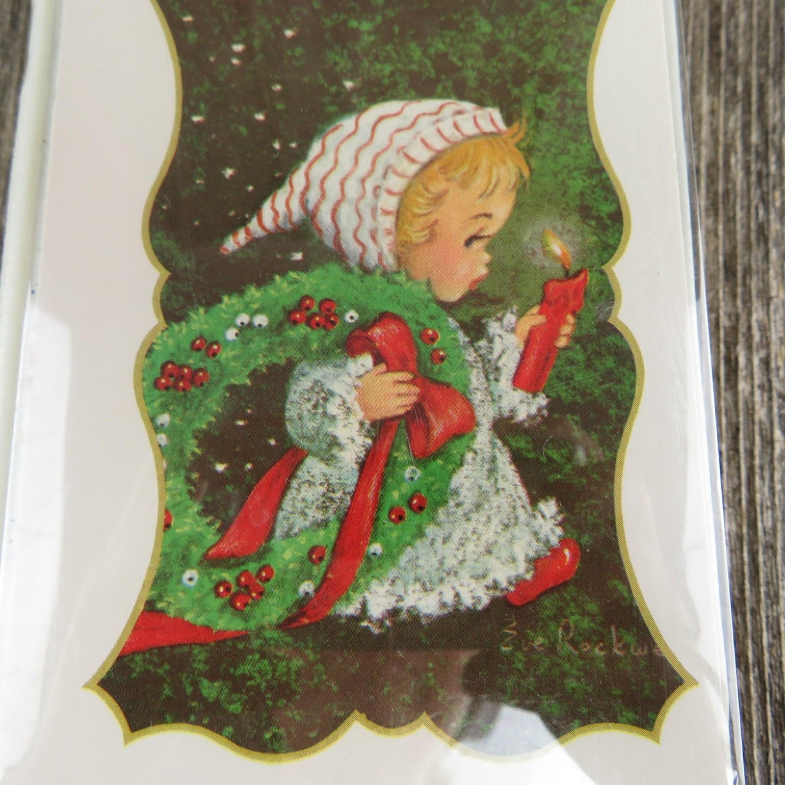 Vintage Christmas Card Book Music Box Child Santa Claus Is Coming To Town