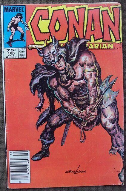 Comic Marvel Conan The Barbarian No 163 Oct 1984