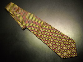 Brooks Brothers Makers Neck Tie Dark Blue Background with Gold and Red Accents - $10.99