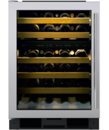 "Sub-Zero UW24STHLH 24"" Undercounter Wine Cooler 46 Bottle Capacity in Stainless - $2,672.95"