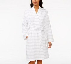 Charter Club White Romance Rose Robe Zip Up Mid-Calf size XS NWT $75
