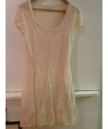 NWT AE American Eagle Beige Short Sleeve Lightweight Knit Sweater Dress ... - $27.95