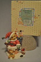 Cherished Teddies - Kris 272140 - Up On The Rooftop - Santa & Toys in Ch... - $11.58