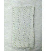 Carters Pink Muslin Baby Blanket Swaddle White Green Polka Dot Security ... - $9.99