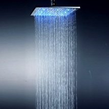 Factory drop-ship 10 Inch Chromed Brass Square LED Rainfall Shower Head - $99.70